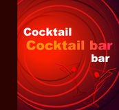 Template of a cocktail bar Royalty Free Stock Images