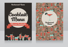 Template for cocktails menu Stock Photography