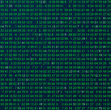 Template coding and programming theme. Green - cyan numbers rows. Vector tiled eps abstract illustration. Stock Image