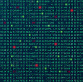 Template coding and programming theme. Green - cyan numbers rows. Vector tiled eps abstract illustration. Royalty Free Stock Photography