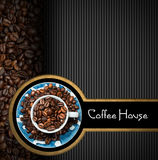 Template for Coffee House Menu Royalty Free Stock Photo