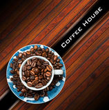 Template for Coffee House Menu Royalty Free Stock Photography