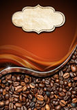 Template for Coffee House Menu Stock Image