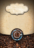Template for Coffee House Menu Royalty Free Stock Photos
