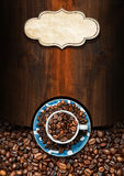 Template for Coffee House Menu Stock Images