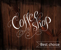 Template of coffee shop Stock Images