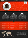 Template coffee web site Stock Image