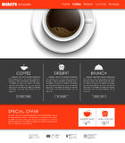 Template coffee web site Royalty Free Stock Image