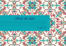 Template color mandala in Italian majolica style for your design letters, postcards, invitations Stock Photography