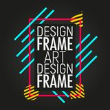Template of colorful cover. Modern frame for text with geometric shapes. Trendy minimal design royalty free illustration