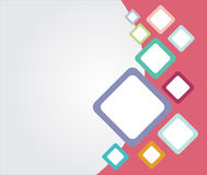 Template colorful Rounded rectangle backgrounds with copy space. For print, presentation, brochure, poster, ad, Abstract vector illustration Royalty Free Stock Photography