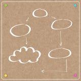 Template cork board with balloons Stock Photos
