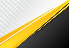 Template corporate concept yellow black grey and white contrast. Background. Vector graphic design illustration, copy space Royalty Free Stock Photography
