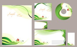 Template corporate  identity of the company Stock Images