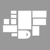 Template corporativo para las ilustraciones del asunto Imagen de archivo libre de regalías