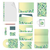 Template corporativo para las ilustraciones del asunto Diseño de la plantilla de los efectos de escritorio Documentación para el  ilustración del vector