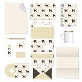 Template corporativo para las ilustraciones del asunto Diseño de la plantilla de los efectos de escritorio Documentación para el  Fotografía de archivo libre de regalías