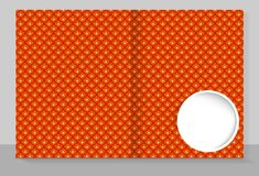 Template cover of a copybook with an trendy design: orange flower. Pattern. Vector illustration Stock Photography