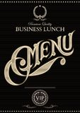 Template for the cover of the menu. Black vector template for the cover of the menu Stock Photography