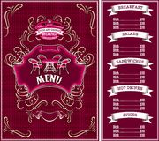 Template for the cover of the menu Stock Images