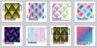Template for Covers, Placards, Posters, Flyers and Banners Desig. Ns. Cool geometric vector set line backgrounds for your designs. Minimalistic brochure designs royalty free illustration