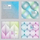 Template for Covers, Placards, Posters, Flyers and Banners Desig. Ns. Cool geometric vector set line backgrounds for your designs. Minimalistic brochure designs vector illustration