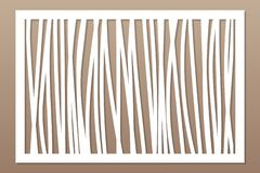 Template for cutting. Abstract line, geometric pattern. Laser cut. Set ratio 2:3. Vector illustration.  stock illustration
