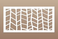 Template for cutting. Abstract line, geometric pattern. Laser cut. Set ratio 1:2. Vector illustration stock photo