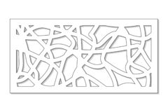 Template for cutting. Abstract line, geometric pattern. Laser cut. Set ratio 1:2. Vector illustration royalty free stock photo