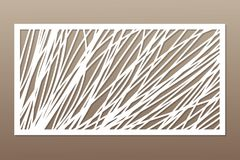 Template for cutting. Abstract line, geometric pattern. Laser cut. Set ratio 1:2. Vector illustration