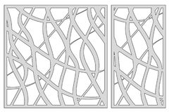 Template for cutting. Abstract line pattern. Laser cut. Set ratio 1:2, 1:1. Vector illustration. vector illustration