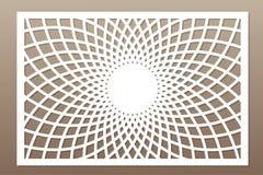 Template for cutting. Mandala, Arabesque pattern. Laser cut. Rat. Io 2:3. Vector illustration vector illustration