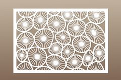 Template for cutting. Round art pattern. Laser cut. Set ratio 2:3. Vector illustration.  Stock Photography