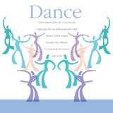 A template for a dance class Royalty Free Stock Images