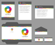 Template de corporation pour des dessin-modèles d'affaires Image libre de droits