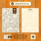 Template de corporation pour des dessin-modèles d'affaires Café, style ferme de restaurant illustration de vecteur
