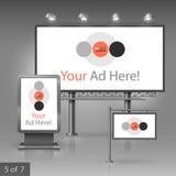Template de corporation pour des dessin-modèles d'affaires Panneau d'affichage, signe, caisson lumineux Images stock