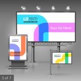 Template de corporation pour des dessin-modèles d'affaires Panneau d'affichage, signe, caisson lumineux Image libre de droits