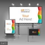 Template de corporation pour des dessin-modèles d'affaires Panneau d'affichage, signe, caisson lumineux Image stock