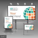 Template de corporation pour des dessin-modèles d'affaires Panneau d'affichage, signe, caisson lumineux Photos libres de droits