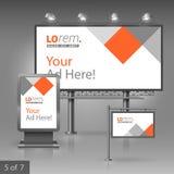 Template de corporation pour des dessin-modèles d'affaires Panneau d'affichage, signe, caisson lumineux Images libres de droits