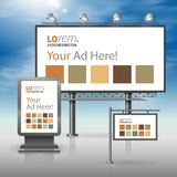 Template de corporation pour des dessin-modèles d'affaires Panneau d'affichage, signe, caisson lumineux Photo stock