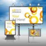 Template de corporation pour des dessin-modèles d'affaires Panneau d'affichage, signe, caisson lumineux Photographie stock libre de droits