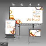 Template de corporation pour des dessin-modèles d'affaires Panneau d'affichage, signe, caisson lumineux Photo libre de droits