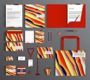 Template de corporation pour des dessin-modèles d'affaires Placez avec des conceptions colorées Photos stock