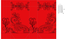 Template for decorative bag Royalty Free Stock Images