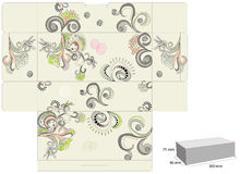 Template for decorative box. Universal template for greeting card, web page, background Stock Photography