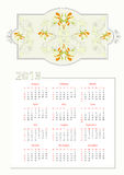 Template for decorative calendar. 2013 Stock Images