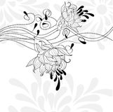 Template for decorative card Stock Photography