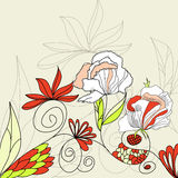 Template for decorative card. Universal template for greeting card, web page, background Stock Photo